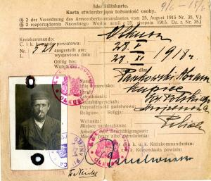 karta stwierdzająca tożsamość osoby3001